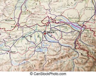 Map of Zurich
