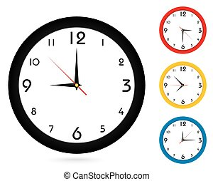Simple classic wall Clock, for your clock design. - Vector...