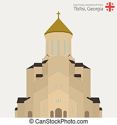 Sameba church, Holy Trinity Cathedral of Tbilisi. Georgia. -...