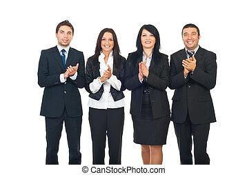 Aplaudir,  businesspeople, equipo