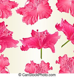 Seamless texture beautiful Flowesr of pink Rhododendrons...