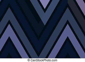 Triangular banner - Triangular geometric zigzag Chevron...