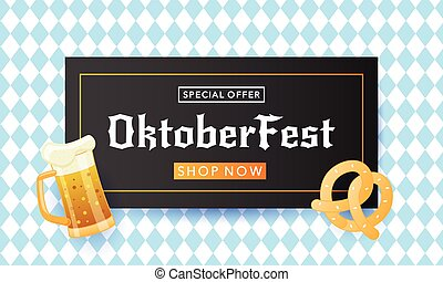 Oktoberfest festival advertisement poster template