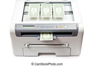Copying money