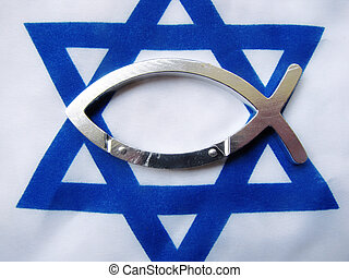 Israel - A Israeli flag with a silver carabiner