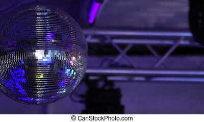 Isolated disco ball on the black background