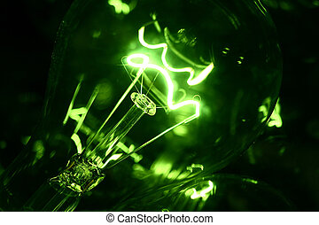 green light - Bulb brightly light fires very beautifully it...
