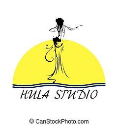 hula hoop3.eps - Hawaii vector logo design template....