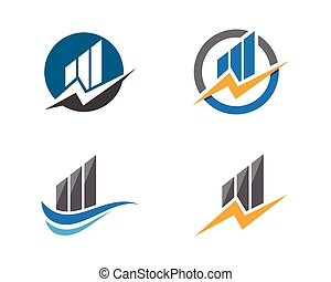 Business Finance Logo template vector icon