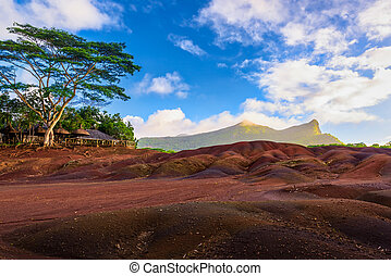 Chamarel seven coloured earths.Natural park,the most famous...