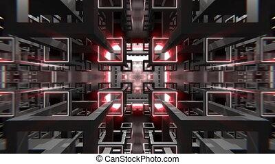 VJ Frame Fields - Full HD VJ square fractal motion...