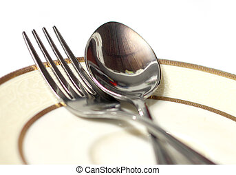 Spoons on a plate