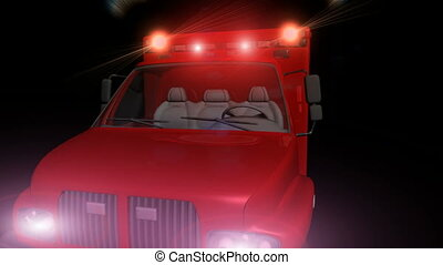 Ambulance with Flashing Lights