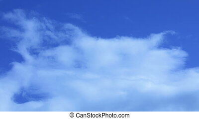 Cloudscape - A blue sky with beautiful clouds.