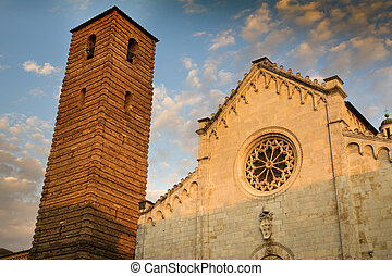 Cathedral of Pietrasanta - Old Façade Romanesque style of...