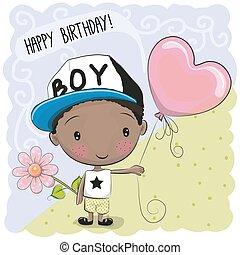 Cute Cartoon Boy with a balloon