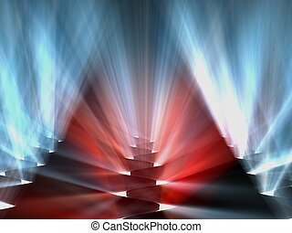 background 3d - abstract background 3d red blue volume light