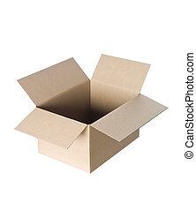 caixa, papelão, abertos