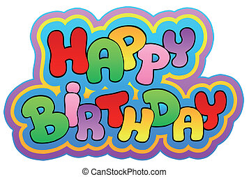 Happy birthday theme 1 - vector illustration.