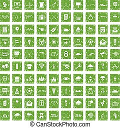 100 arrow icons set grunge green - 100 arrow icons set in...