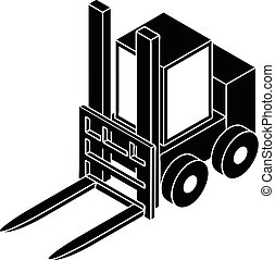 Forklift icon, simple style - Forklift icon. Simple...