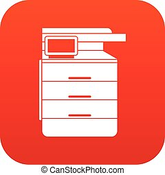 Multipurpose device, fax, copier and scanner icon digital...