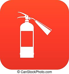 Fire extinguisher icon digital red for any design isolated...