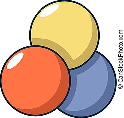 Paintball balls icon, cartoon style - Paintball balls icon....