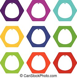 Pomelo icon set color hexahedron - Pomelo icon set many...