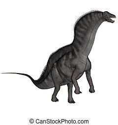dinosaurio, -, amargasaurus, render, 3d