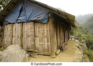 Ethnic Hmong House - The houses of ethnic Hmong are of...