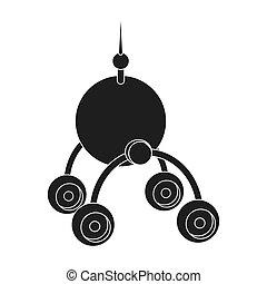 estilo, espacio, símbolo, lunokhod., web., ilustración, nave...