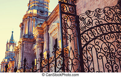 Arequipa city in Peru, South America