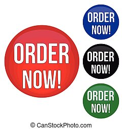 Order now website glossy buttons set