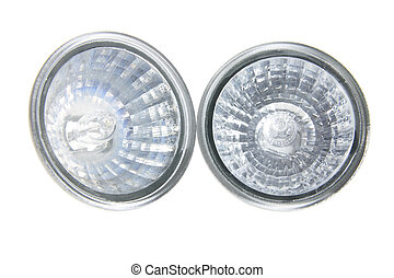 Reflector Lamps on White Background