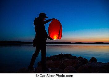 sky flying lantern