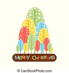 abstract merry christmas tree design