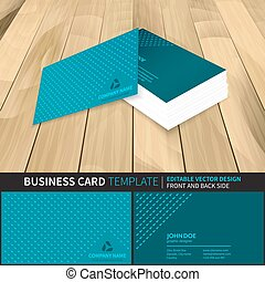 Creative vector business card template design with front and back side.