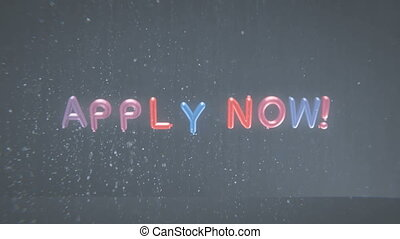 Apply now intro - Apply now advertising text banner intro...