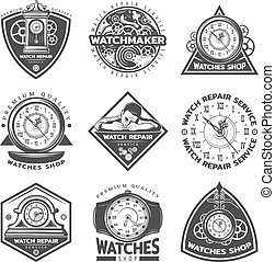 Vintage Watches Repair Service Labels Set - Vintage watches...