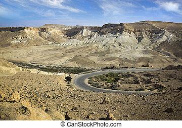 Israeli desert landscape mountin view - Israeli desert on...