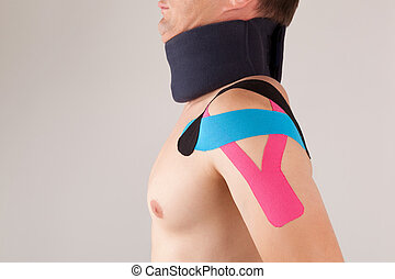 Kinesio taping for stabilizing shoulder - This kind of...
