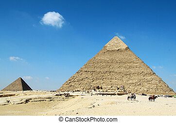 Pyramids of Giza - Beautiful Egyptian pyramids Giza, Khafres...