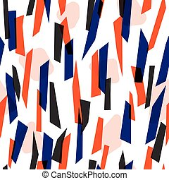 Abstract colorful stripes seamless pattern - Modern seamless...