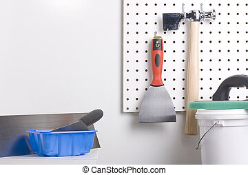 Plastering tools - Different tools used for wall plastering...