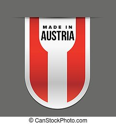 Made in Austria ribbon vector