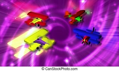 Toy Airplanes in a Circle