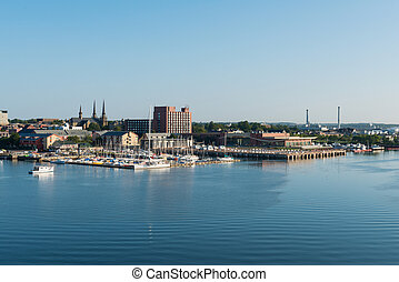 Charlottetown centre and marina - Charlottetown harbor,...