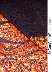 Elegant shawl with embroidery - Closeup of a folded elegant...