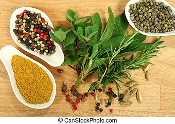 Food additives - Herbs and spices composition. Cooking...